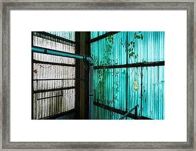 Factory Hall Wall - Industrial Decay Framed Print by Dirk Ercken