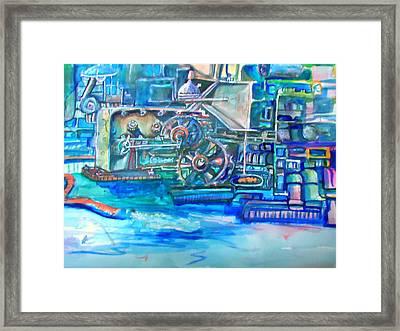 Factory Framed Print by Steven Holder