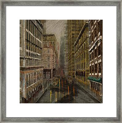 Fade Into City Framed Print by Dale Nielsen