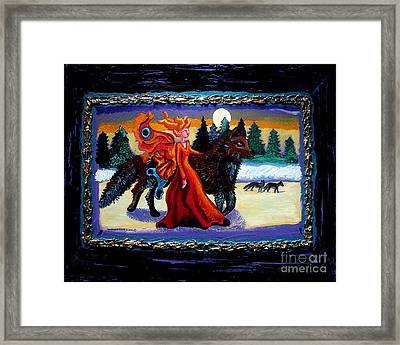 Faerie And Wolf Framed Print by Genevieve Esson