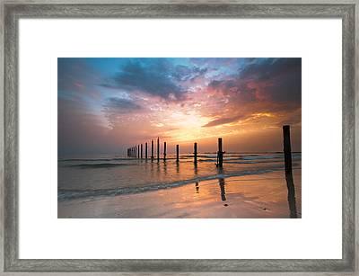 Fahaheel Sunrise Kuwait Framed Print by Shahbaz Hussain's Photos