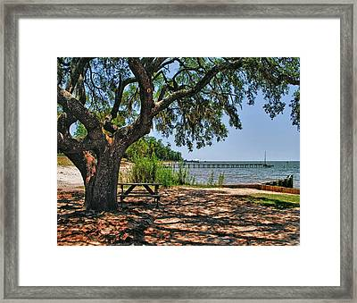 Fairhope Boat Launch Framed Print by Michael Thomas