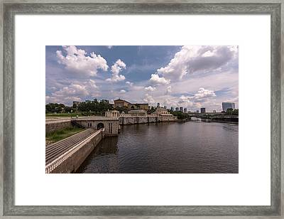 Fairmount Water Works And Philadelphia Museum Of Art Framed Print by Terry DeLuco