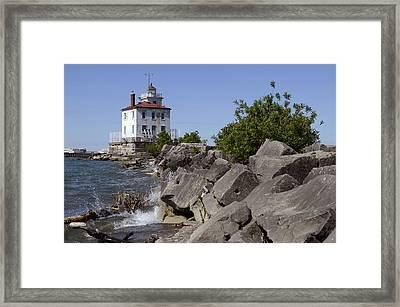 Fairport Harbor Lighthouse Framed Print by Ann Bridges