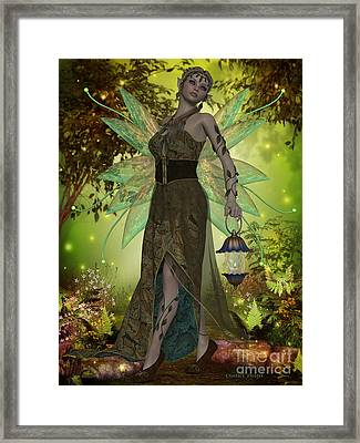 Fairy Gaia Framed Print by Corey Ford