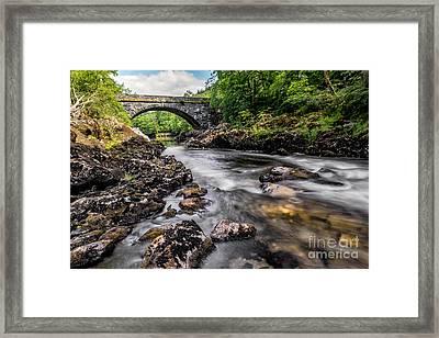 Fairy Glen Bridge Framed Print by Adrian Evans