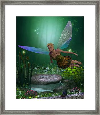 Fairy In Flight Framed Print by Corey Ford