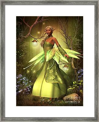 Fairy Lights Framed Print by Corey Ford