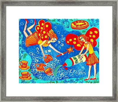 Fairy Liquid Framed Print by Sushila Burgess