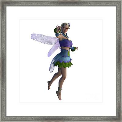 Fairy Sarah On White Framed Print by Corey Ford
