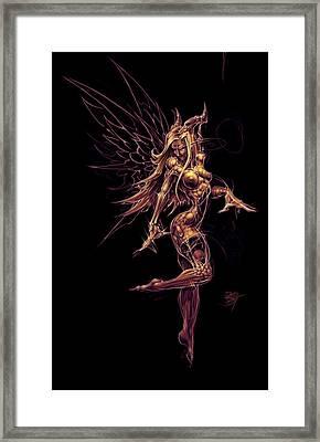 Fairy Star Child Framed Print by David Bollt