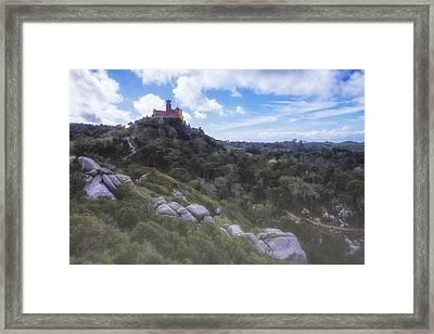 Fairy Tale Pena Palace Framed Print by Joan Carroll