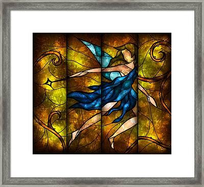 Fairy Tetraptych Framed Print by Mandie Manzano