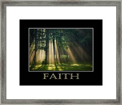 Faith Inspirational Motivational Poster Art Framed Print by Christina Rollo