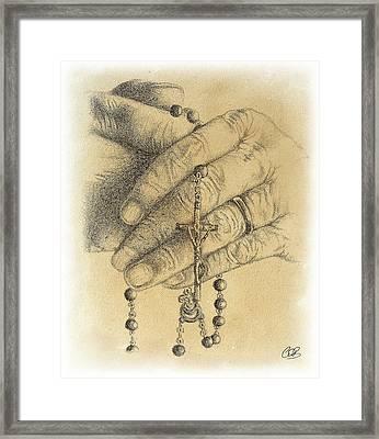 Faith Never Grows Old Framed Print by Conor OBrien
