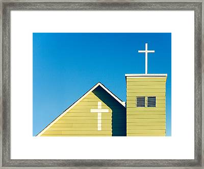 Faithfully Simple Framed Print by Todd Klassy