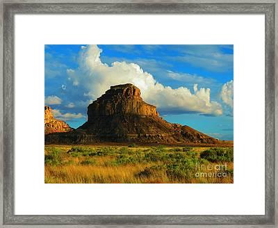 Fajada Butte At Days End Framed Print by Feva Fotos