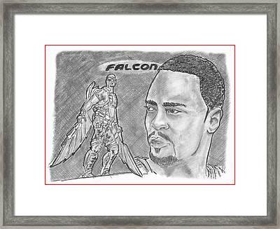Falcon Framed Print by Chris DelVecchio