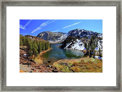 Fall At Ellery Lake Framed Print by David Toussaint - Photographersnature.com