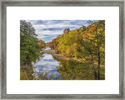 Fall At Turkey Run State Park Framed Print by Alan Toepfer