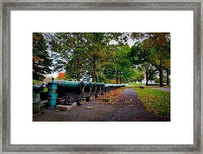 Fall At West Point Framed Print by David Hahn