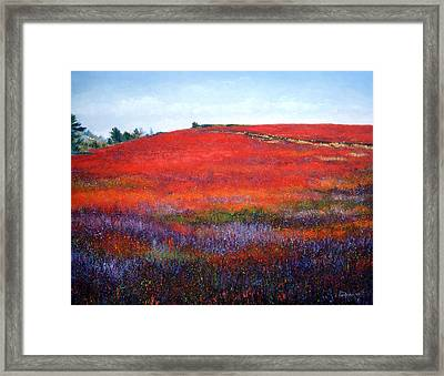 Fall Blueberries 1 Framed Print by Laura Tasheiko
