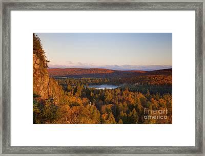 Fall Colors Orberg Mountain North Shore Minnesota Framed Print by Wayne Moran