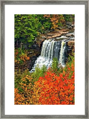 Fall Falls Framed Print by Steve Harrington