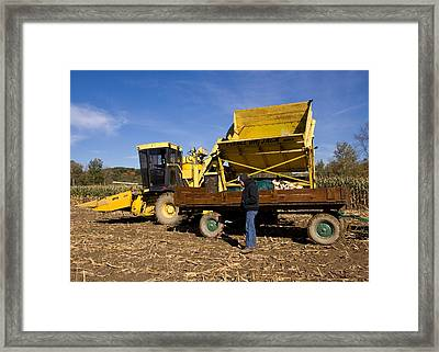 Fall Farming Framed Print by Tim Fitzwater