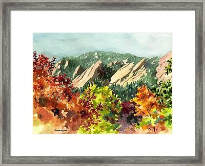 Fall Flatirons Framed Print by Anne Gifford