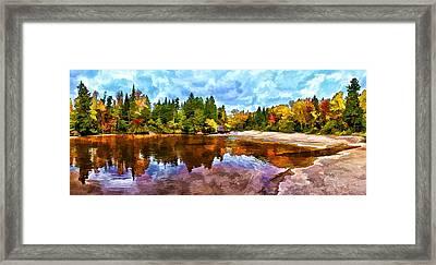 Fall Foliage At Ledge Falls 3 Framed Print by Bill Caldwell -        ABeautifulSky Photography