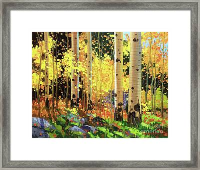Fall Forest Symphony I Framed Print by Gary Kim