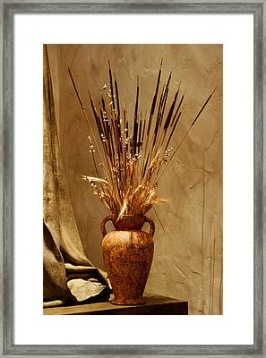 Fall In A Vase Still-life Framed Print by Christine Till