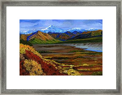 Fall In Alaska Framed Print by Vidyut Singhal