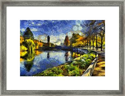 Fall In Riverfront Park Spokane Framed Print by Mark Kiver
