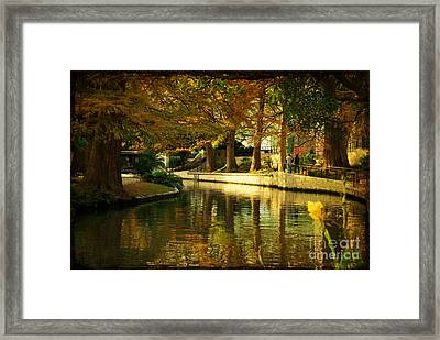 Fall In San Antonio Framed Print by Iris Greenwell