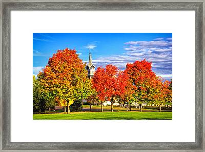 Fall In The Country Framed Print by Carolyn Derstine
