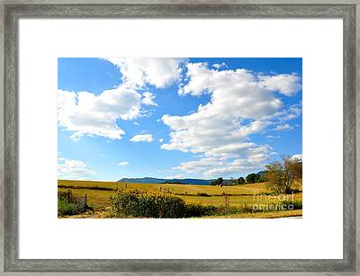 Fall Is On The Way Framed Print by Todd Hostetter