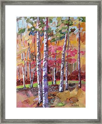 Fall Medley Framed Print by Marty Husted