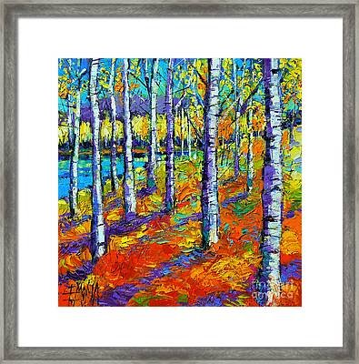 Fall Mood Framed Print by Mona Edulesco