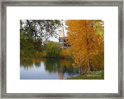 Fall Pond  Framed Print by Carol Groenen