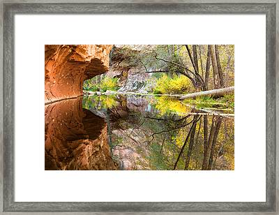 Fall Reflections Framed Print by Carl Amoth