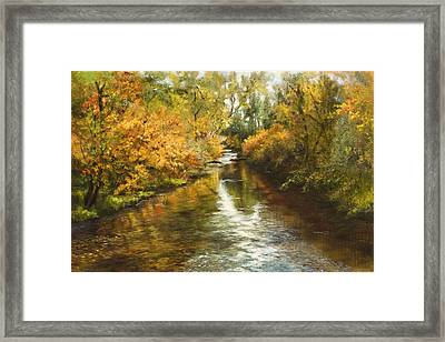 Fall Reflections Framed Print by Jan Hardenburger