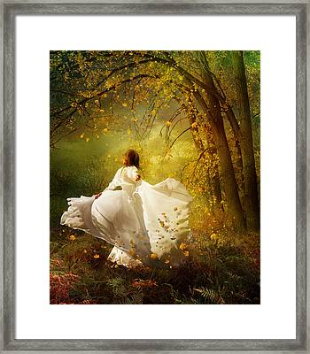 Fall Splendor Framed Print by Mary Hood