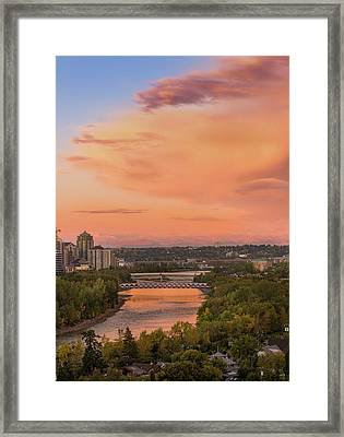 Fogy Sunrise  Framed Print by Yves Gagnon