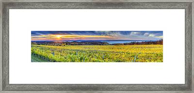 Fall Sunset On Old Mission Framed Print by Twenty Two North Photography