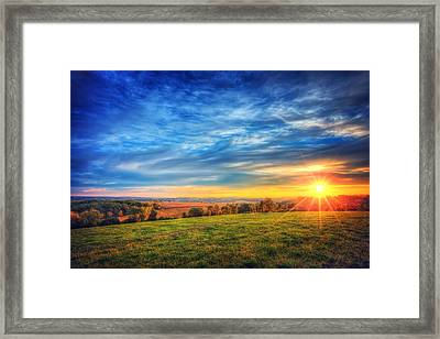 Fall Sunset - Retzer Nature Center - Waukesha Framed Print by The  Vault - Jennifer Rondinelli Reilly