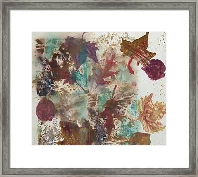 Fall Treasures Framed Print by Claudia Smaletz