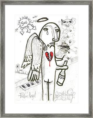Fallen Angel Framed Print by Robert Wolverton Jr