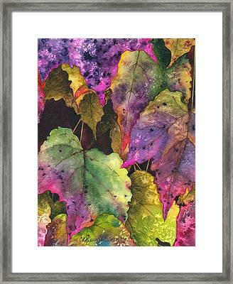 Fallen Framed Print by Casey Rasmussen White